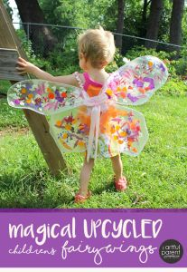 Make magical children's fairy wings in this easy upcycle project using contact paper and flower petals. A great summer craft project for any flower fairy!