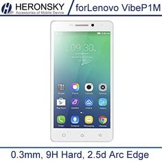 0.3mm Tempered Glass for Lenovo P1M Vibe P1M 9H Hard 2.5D Arc Edge High Transparent Screen Protector with Clean Tools
