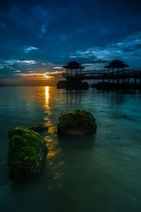 Sunset over Pulau Ubin Island, Singapore