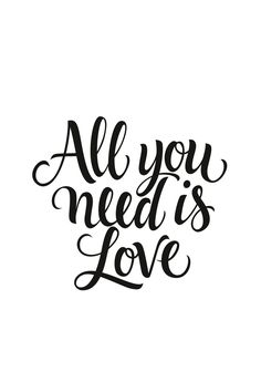 All you need is love wall mural from Happywall