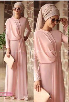 Utterly beautiful and stylish! Islamic Fashion, Muslim Fashion, Modest Fashion, Fashion Dresses, Muslim Dress, Hijab Dress, Modest Wear, Modest Dresses, Abaya Mode