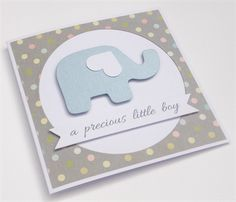 Handmade Baby Card - a precious little boy