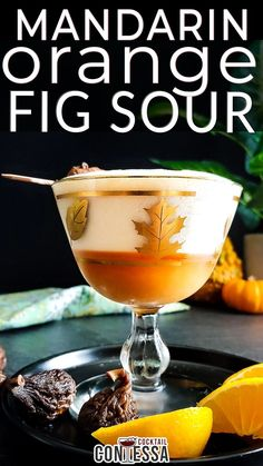 The time for fresh figs has passed, but fig preserves let me play with this holiday flavor year round – especially in this mandarin orange fig sour. Bursting with sweetness from the figs, citrus from the orange and lemon and great hint of bitterness from the orange zest, it's a cross between a smash and a Boston sour. And it's perfect for a November happy hour.   @cocktailcontessa #figcocktails #holidaycocktails #craftcocktails #craftcocktailrecipes #christmaspartycocktails Sour Cocktail, Cocktail Garnish, Cocktail Recipes, Dried Figs, Fresh Figs, Craft Cocktails, Holiday Cocktails, Fig Newtons, Preserved Lemons