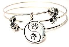 Yin Yang Paw Prints Triple Style Bracelet >>> Find out more about the great product at the image link.