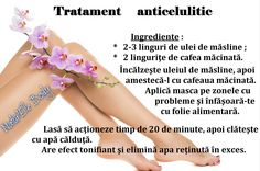 Tratament anticelulitic Health And Beauty Tips, Health Tips, Healthy Nutrition, Healthy Life, Face Health, Aerobics Workout, 30 Day Challenge, Loving Your Body, Beauty Routines