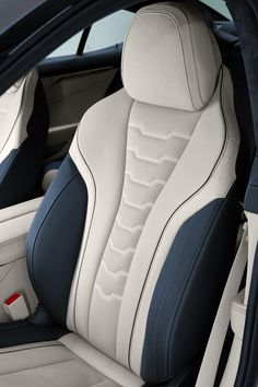 BMW has offically unveiled the new Gran Coupe and it offers a twin-turbo with up to 523 hp . Car Interior Upholstery, Bmw Interior, Automotive Upholstery, Custom Car Interior, Car Interior Design, Truck Interior, Camaro Interior, Leather Car Seat Covers, Sport Seats