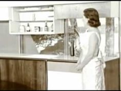 How many mid-century concepts are viewed as innovations of today? 1957 marked the launch of the RCA-Whirlpool® Miracle Kitchen - a wildly imaginative, futuri. Home Design Decor, House Design, Ultra Modern Homes, Smart Home, Vintage Advertisements, Vintage Kitchen, Popcorn, Future House, Interior And Exterior
