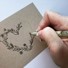 Lettering and doodles Diy Art, Karten Diy, Arts And Crafts, Paper Crafts, Doodle Art, Heart Doodle, Doodle Ideas, How To Draw Hands, Card Making