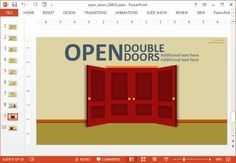 Multiple door layouts PowerPoint template #templates #PowerPoint