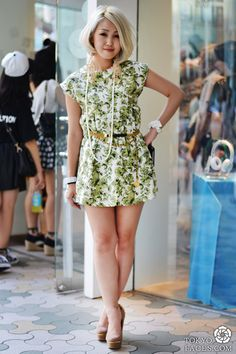 Name: Erina  Dress: LA Vintage  Accessories: LA Vintage  Belt: Chanel Vintage  Shoes: Gallerie