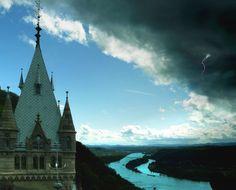 The castle Schloss Drachenburg in North Rhine -Westphalia in Germany