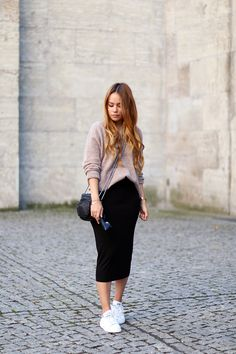 teetharejade » Blog Archive Outfit: Stan Smith sneaker meets midi skirt - teetharejade