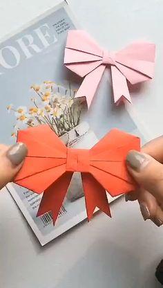Cool Paper Crafts, Paper Crafts Origami, Origami Art, Oragami, Diy Origami Cards, Origami Ideas, Cardboard Crafts, Diy Paper, Diy Crafts Hacks