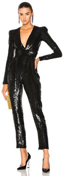 c89367ab5d32 Zuhair Murad Sequined Jumpsuit Black Sequin Jumpsuit