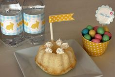 Free gingham Easter party printables