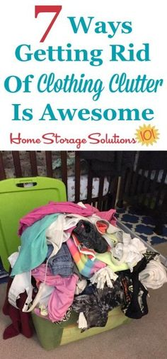 7 reasons why getting rid of clothing clutter in your home is awesome, as shown by the words and pictures of participants who decluttered clothes in their home on Home Storage Solutions 101 Clutter Solutions, Home Storage Solutions, Closet Solutions, Getting Rid Of Clutter, Getting Organized, Clutter Organization, Organization Ideas, Bedroom Organization, Clothing Organization