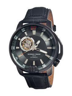 Men's Timeless Iii Leather Strap Watch from Giorgio Fedon 1919 on Gilt