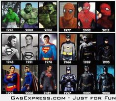Super Heroes By The Time