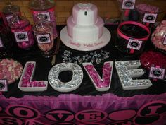 """Photo 1 of 7: Candy bar / Bridal/Wedding Shower """"LOVE IS SWEET""""   Catch My Party"""