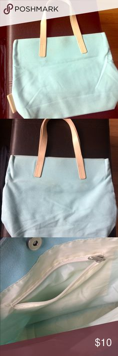 Light Blue Tote A super  Light Blue Tote, Canvas by Andante Andante Bags Totes