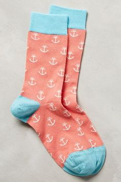 Seafarer Socks by Jonathan Adler Pink One Size Socks from Anthropologie. Shop more products from Anthropologie on Wanelo. Design Textile, Foot Warmers, Funky Socks, Cozy Socks, Happy Socks, Silly Socks, Sock Shoes, Cool Outfits, Tights