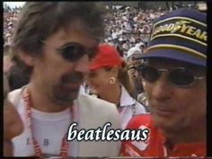 George Harrison and Emerson Fittipaldi celebration interview