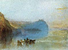 'Szene an der Loire', wasserfarbe von William Turner (1789-1862, United Kingdom)