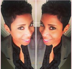 Hair maybe on pinterest alicia keys pixie cuts and short cuts