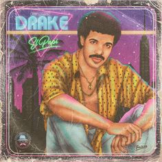 More retro goodness here (including The Weeknd, Skrillex, Taylor Swift, and Cardi B). Drake Album Cover, 80s Album Covers, Music Covers, Beyonce, Rihanna E, Drake E, Popular Music Artists, Drakes Album, Illustrator