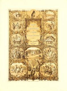 Antique falconry book cover art