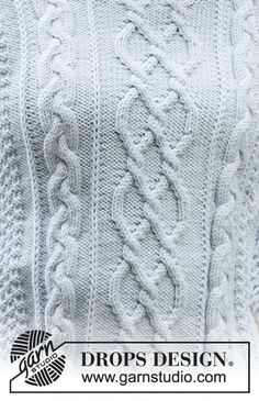Winter delight / drops - free knitting patterns by drops design Cable Knitting Patterns, Lace Knitting, Knit Patterns, Drops Design, Pull Torsadé, Drops Patterns, Knitting Gauge, Moss Stitch, Pattern Library