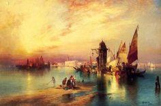thomas moran paintings | Thomas Moran >> Venezia 4 | (olio, opera d'arte, riproduzione, copia ...