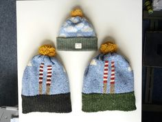Poolbeg Chimney merino hats & lambs wool cloud kids hat #liadainaikenknitwear