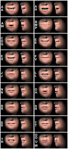 phonemes - Google Search Fantasy Character, Character Modeling, 3d Modeling, Character Design Tips, Character Design References, Animation Reference, 3d Animation, Mouth Animation, Anatomy Reference