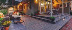 Ideas to transform your backyard into an outdoor living space. From decks to porches to patios, discover design tools, design ideas, a project calculator & more. Diy Deck, Diy Patio, Backyard Patio, Deck Over Concrete, Concrete Jungle, Timbertech Decking, Pvc Decking, Plastic Decking, Deck Colors