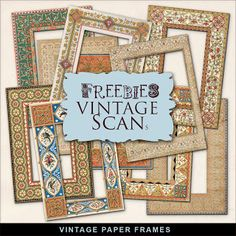 New Freebies Kit - Vintage Style Paper Frames:Far Far Hill - Free database of digital illustrations and papers