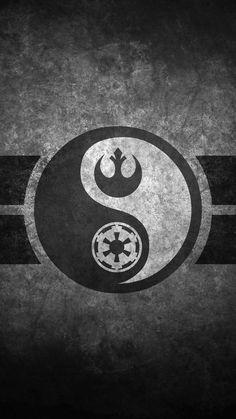 Star Wars Yin Yang Cellphone Wallpaper by on DeviantArt Nave Star Wars, Star Wars Film, Star Wars Rebels, Star Wars Art, Star Trek, Star Wars Logos, Tatoo Geek, Foto Logo, Star Wars Tattoo