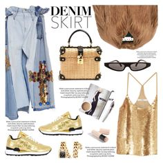 """Jean Dreams: Denim Skirts"" by teoecar ❤ liked on Polyvore featuring TIBI, Saucony, Dolce&Gabbana, Marni, Burberry, Rebecca Minkoff and denimskirts"