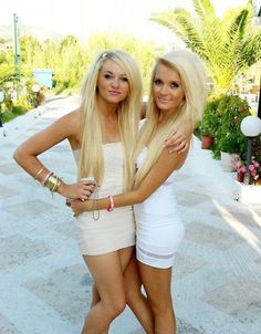 Hot blonde girl and mona lee