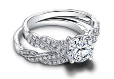 Twisted band engagement ring//Courtesy of Jeff Cooper