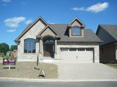 2500 sf split level rancher of stone and stucco