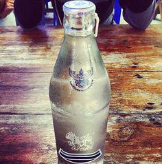 old school bottle of water in Thailand, Sukhothai