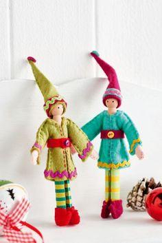 Your Ultimate Christmas Elf Pack Handmade Christmas Crafts, Diy Xmas Gifts, Felt Christmas Decorations, Christmas Ornament Crafts, Xmas Crafts, Christmas Elf Doll, Retro Christmas, Kids Christmas, Wood Peg Dolls