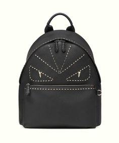 FENDI BACKPACK BAG BAGS EYES MONSTER BLACK 7VZ01274HF0GXN #FENDI #Backpack