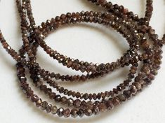 2 Inch Red Brown Sparkling Diamonds Brown Faceted by gemsforjewels