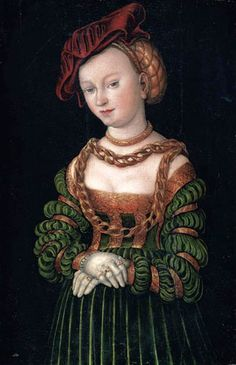 Its About Time: 1500s Women attributed to father & son Lucas Cranach, Northern Renaissance Painters & their workshops - A Young Woman 1525