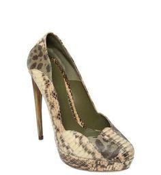 ALEXANDER MCQUEEN 140MM splicing snakeskin heels $172