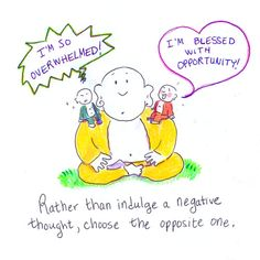 @Aubrey Adair ..... makes me think of school and work.....Buddha Doodle - 'Opposite Thought'