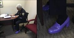 Have You Seen Cops In Purple Shoes? Here's The INCREDIBLE Reason For It