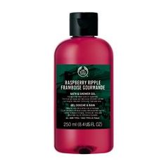 Body Shop Raspberry Ripple Bath & Shower Gel by The Body Shop. $12.95. Best for all skin types. Feel fresh and clean with a deliciously fruity gel that creates a luxurious foamy lather to leave skin feeling cleansed and gently fragranced with the scent of raspberry. The Body Shop Raspberry Ripple Bath & Shower Gel - 8.4 Oz. : Feel fresh and clean with a deliciously fruity gel that creates a luxurious foamy lather to leave skin feeling cleansed and gently fragranced with the sce...